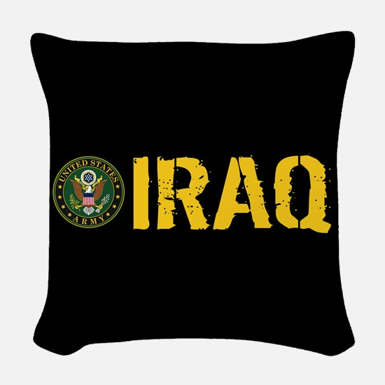 U.S. Army: Iraq Woven Throw Pillow