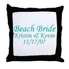 CUSTOM - Beach Bride Throw Pillow