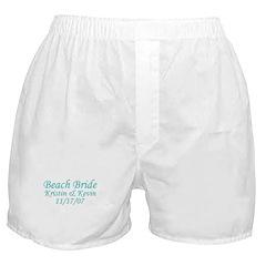 CUSTOM - Beach Bride Boxer Shorts