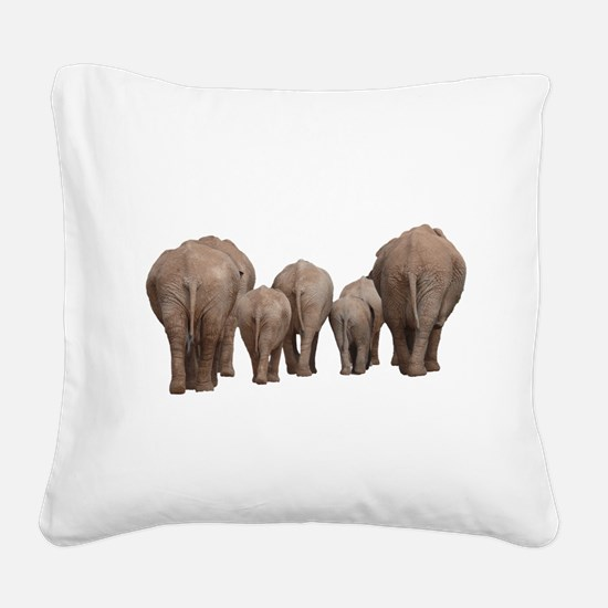 Unique Elephant Square Canvas Pillow