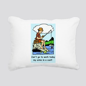 Funny arms in a cast Rectangular Canvas Pillow