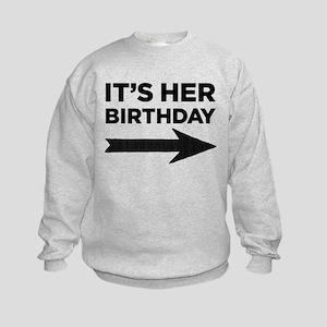Its His Birthday (Left Arrow) Sweatshirt