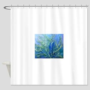 P-AQUATIC-FERN Shower Curtain
