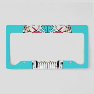 Sugar Skull License Plate Holder