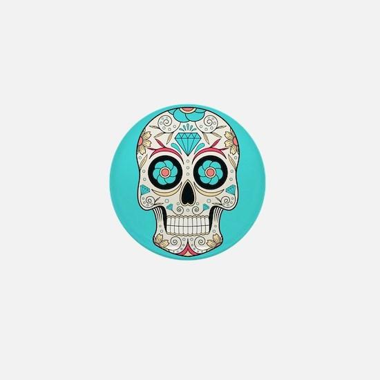 Sugar Skull Mini Button