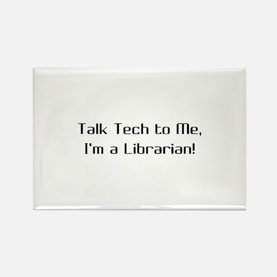 Cute Tech librarian Rectangle Magnet