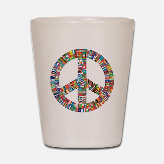 Funny Peace symbol Shot Glass