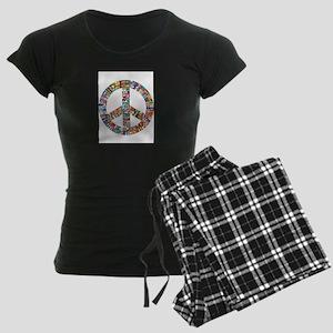 Peace to All Nations Women's Dark Pajamas
