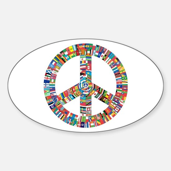 Peace to All Nations Decal