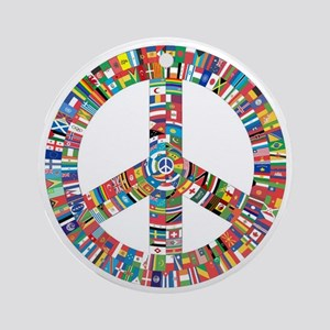 Peace to All Nations Round Ornament
