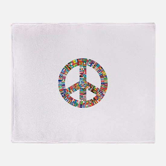 Peace to All Nations Throw Blanket