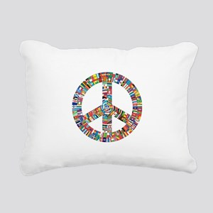 Peace to All Nations Rectangular Canvas Pillow