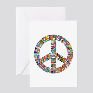 Peace symbol greeting cards cafepress peace to all nations greeting cards m4hsunfo Images