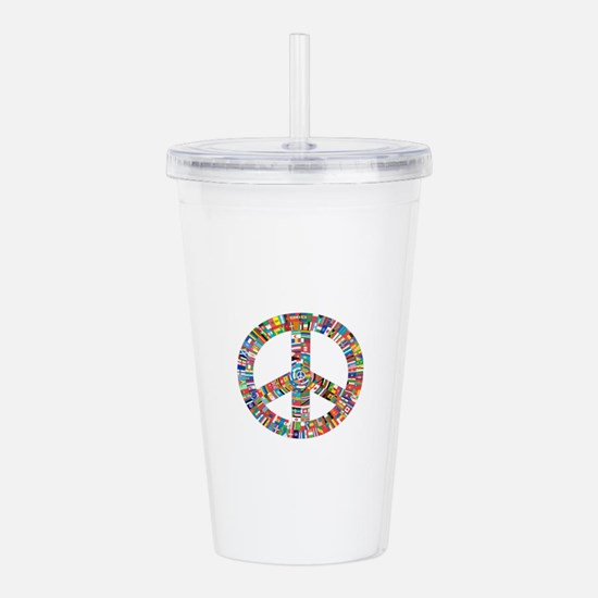 Peace to All Nations Acrylic Double-wall Tumbler