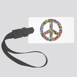Peace to All Nations Large Luggage Tag