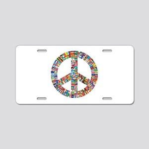 Peace to All Nations Aluminum License Plate