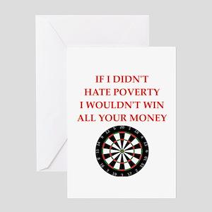 darts Greeting Cards