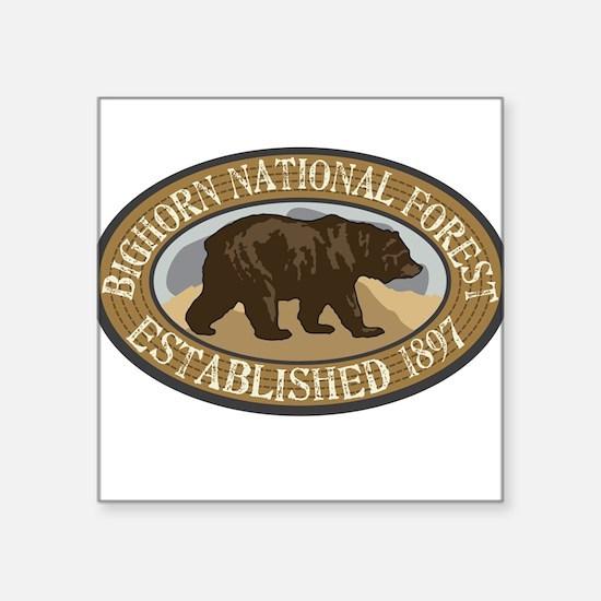 "Cute Bighorn national forest Square Sticker 3"" x 3"""