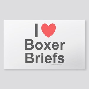 Boxer-Briefs Sticker (Rectangle)
