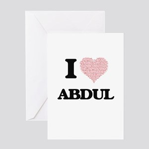 I Love Abdul (Heart Made from Love Greeting Cards