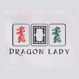 Mahjong Dragons Throw Blanket