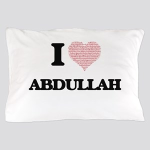 I Love Abdullah (Heart Made from Love Pillow Case
