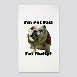 Im Not Fat Bulldog Area Rug