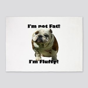 Im Not Fat Bulldog 5'x7'Area Rug
