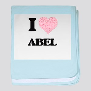 I Love Abel (Heart Made from Love wor baby blanket