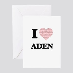 I Love Aden (Heart Made from Love w Greeting Cards