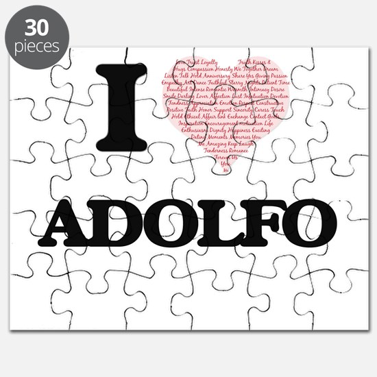 I Love Adolfo (Heart Made from Love words) Puzzle