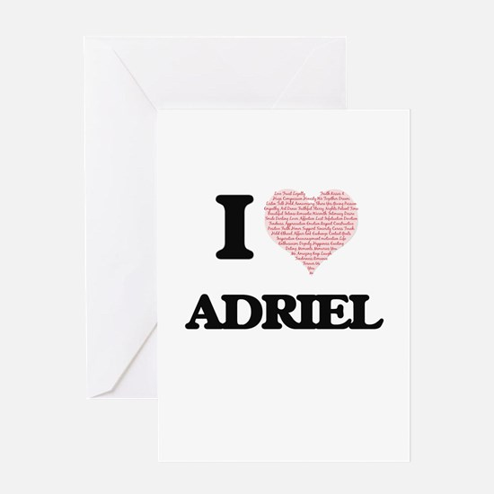 I Love Adriel (Heart Made from Love Greeting Cards