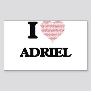 I Love Adriel (Heart Made from Love words) Sticker