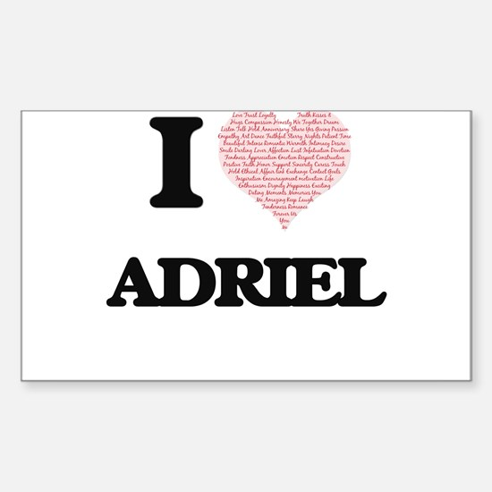 I Love Adriel (Heart Made from Love words) Decal