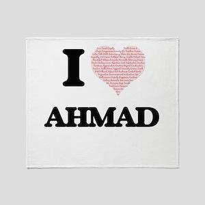 I Love Ahmad (Heart Made from Love w Throw Blanket