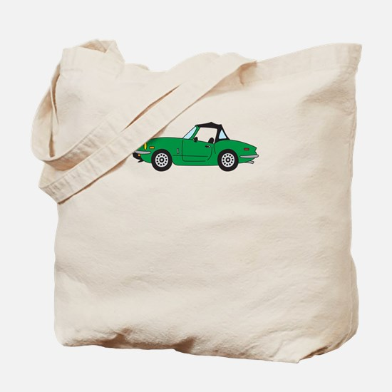 Green Spitfire Cartoon Tote Bag
