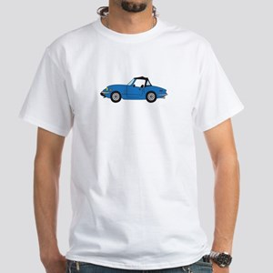 Blue Spitfire Cartoon White T-Shirt