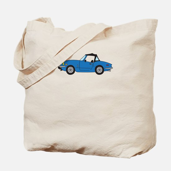 Blue Spitfire Cartoon Tote Bag