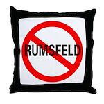 No Rumsfeld Throw Pillow