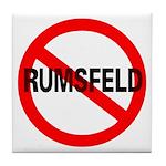 No Rumsfeld Tile Coaster