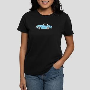 Light Blue Spitfire Cartoon Women's Dark T-Shirt