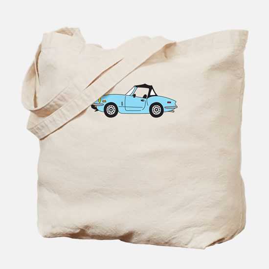 Light Blue Spitfire Cartoon Tote Bag