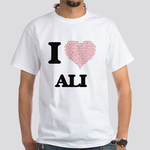 I Love Ali (Heart Made from Love words) T-Shirt