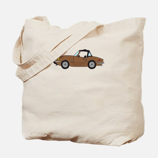 Brown Spitfire Cartoon Tote Bag