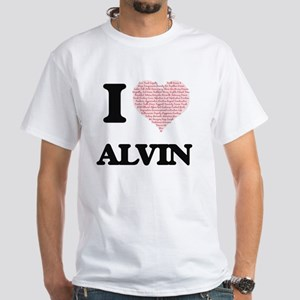 I Love Alvin (Heart Made from Love words) T-Shirt