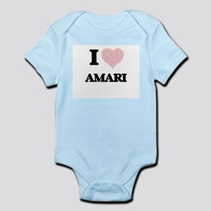 I Love Amari (Heart Made from Love words Body Suit