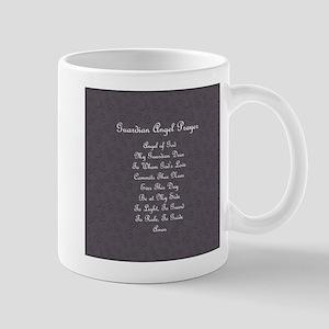 Guardian Angel Prayer Charcoal Mug