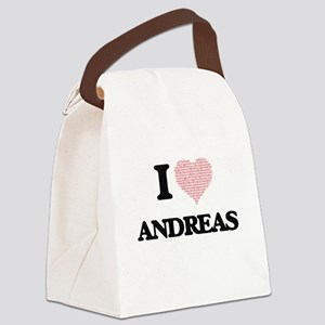 I Love Andreas (Heart Made from L Canvas Lunch Bag