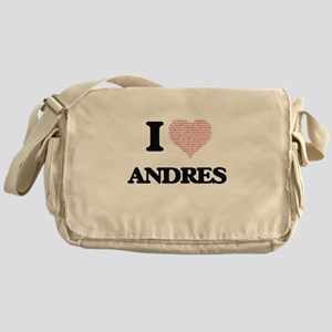 I Love Andres (Heart Made from Love Messenger Bag