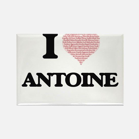 I Love Antoine (Heart Made from Love words Magnets
